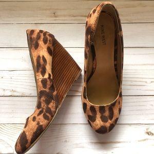 Nine West Catherinel wedge leopard 9